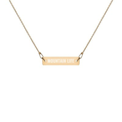 Mountain Life - Engraved Chain Necklace