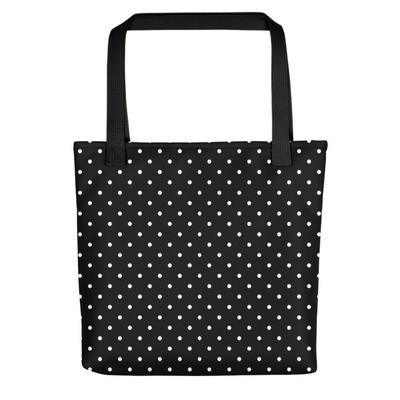 Black & White Polka Dot - Tote bag