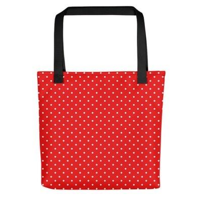 Red & White Polka Dot - Tote bag