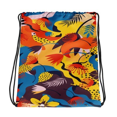 Jungle Flowers - Drawstring bag