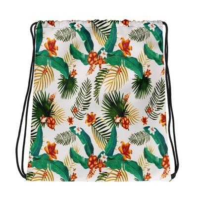 Tropical Floral - Drawstring bag