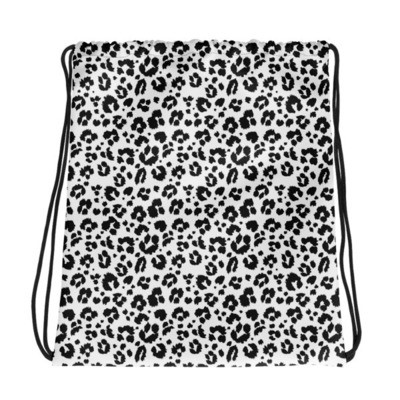 Leopard Print - Drawstring bag