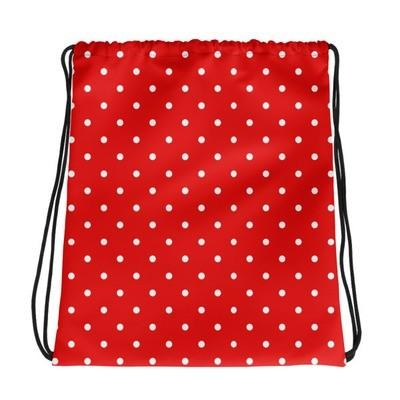 Red Polka Dot - Drawstring bag