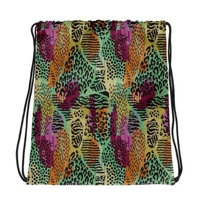 Animal Collage - Drawstring bag