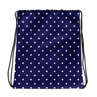 Blue Polka Dot - Drawstring bag