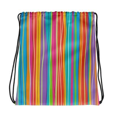Colored Stripes - Drawstring bag
