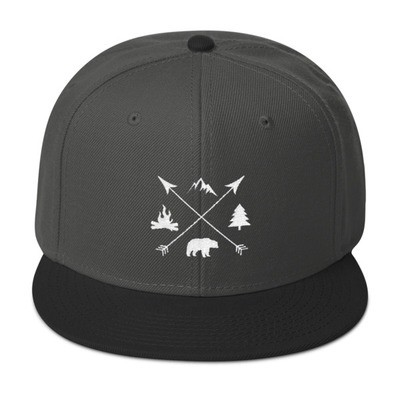 The Rockies Lifestyle - Snapback Hat (Multi Colors) Canadian American Rocky Mountains