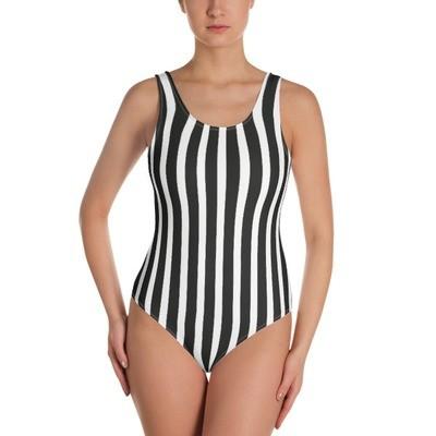 Black & White - One-Piece Swimsuit