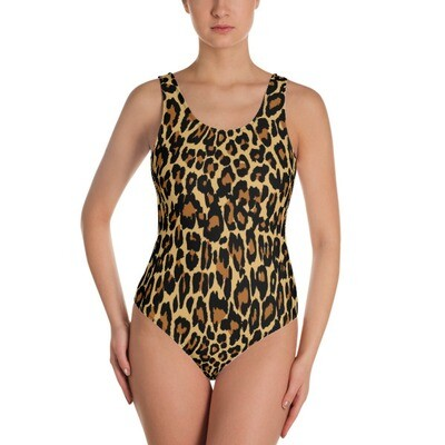 Leopard Print - One-Piece Swimsuit