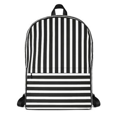 Black & White Stripes - Backpack