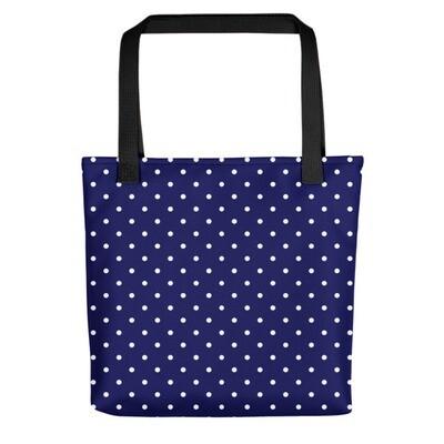Blue Polka Dot - Tote bag