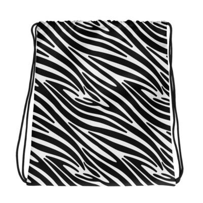 Zebra Print - Drawstring bag