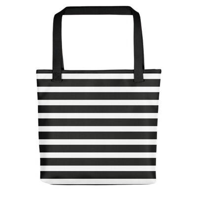 Black & White Stripes - Tote bag