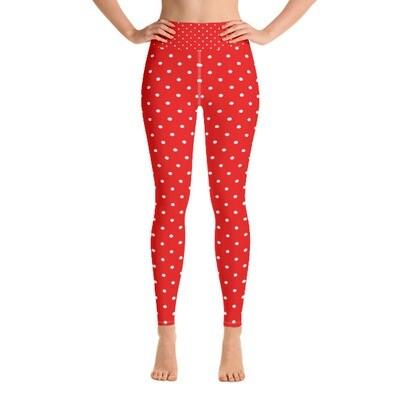 Red Polka Dot - Active Leggings