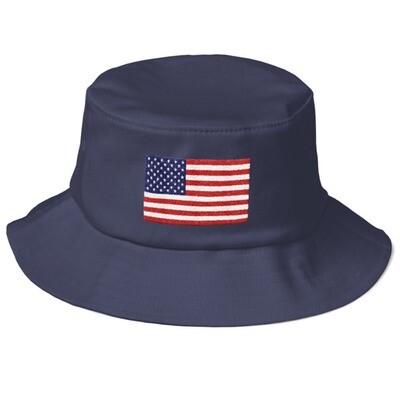 USA Flag - Old School Bucket Hat (Multi Colors)