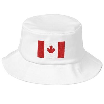 Canada Flag - Old School Bucket Hat (Multi Colors)