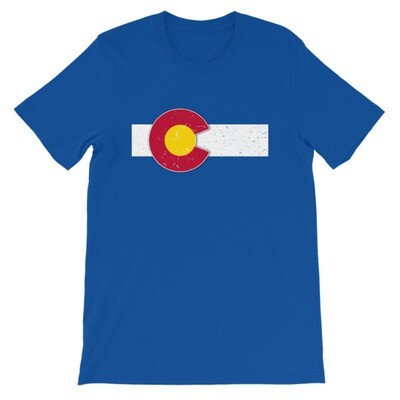 Colorado Flag USA - T-Shirt (Multi Colors) The Rockies American Rocky Mountains