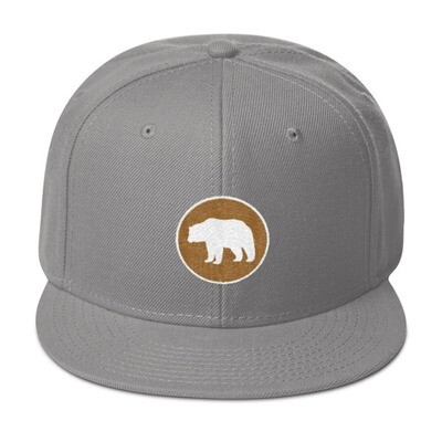 Bear Crest - Snapback Hat (Multi Colors) The Rocky Mountains Canadian American Rockies