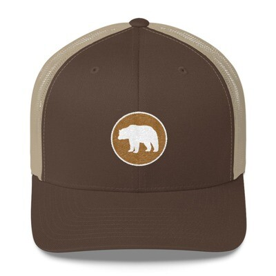 Bear Crest - Trucker Cap (Multi Colors) The Rocky Mountains Canadian American Rockies