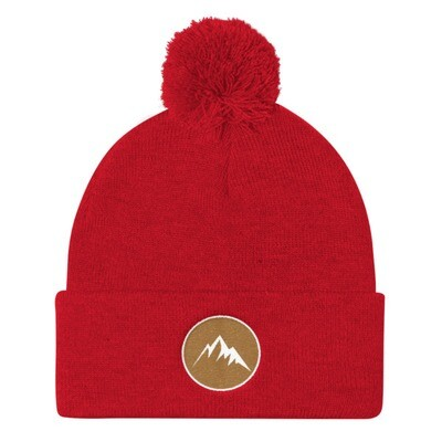 Mountain Crest - Pom Pom Knit Cap (Multi Colors) The Rocky Mountains Canadian American Rockies