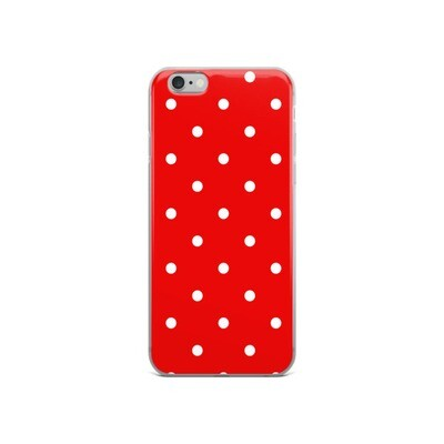 Red Polka Dots - iPhone Case