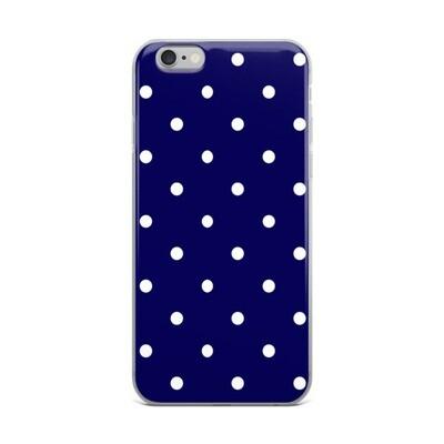 Blue Polka Dots - iPhone Case