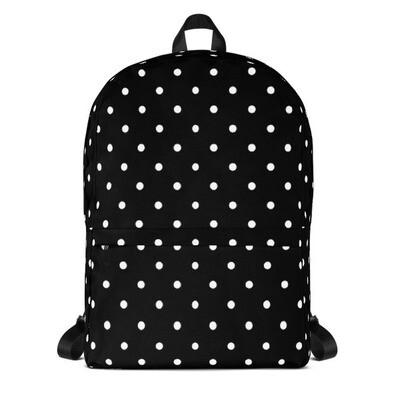 Black Polka Dot - Backpack