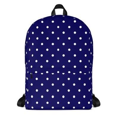 Blue Polka Dot - Backpack