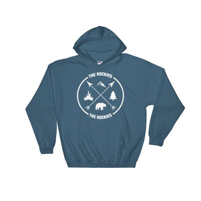 The Rockies - Hooded Sweatshirt (Multi Colors) Canadian American Rocky Mountains