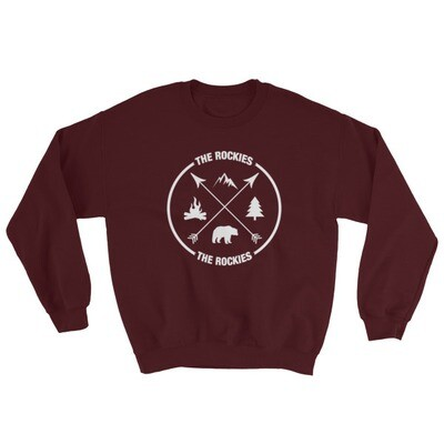 The Rockies - Sweatshirt (Multi Colors) Canadian American Rocky Mountains