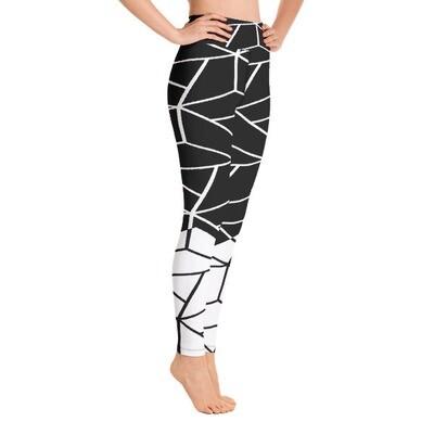 Geometric lines - High Waisted Leggings