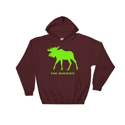 The Rockies Moose - Hooded Sweatshirt (Multi Colors) Canadian American Rocky Mountains