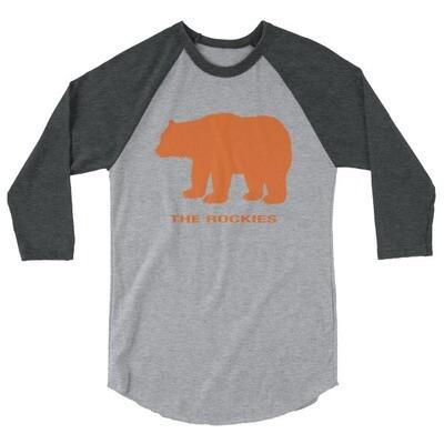 The Rockies Bear - 3/4 sleeve raglan shirt (Multi Colors)
