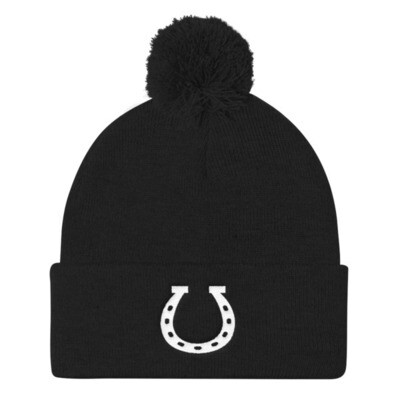 Horseshoe - Pom Pom Knit Cap (Multi Colors)