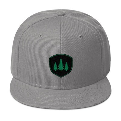 Pine Tree Crest - Snapback Hat (Multi Colors) The Rocky Mountains Canadian American Rockies