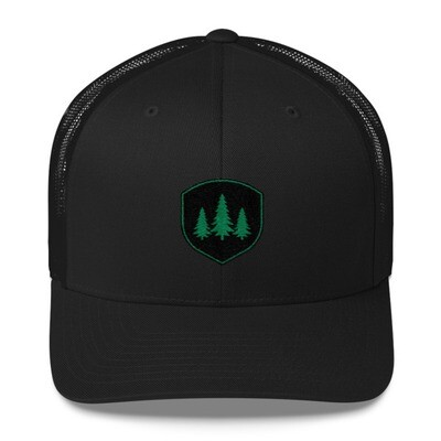 Pine Tree Crest - Trucker Cap (Multi Colors) The Rocky Mountains Canadian American Rockies