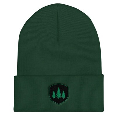 Pine Tree Crest - Cuffed Beanie (Multi Colors) The Rocky Mountains Canadian American Rockies