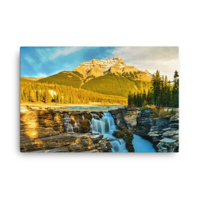 Athabasca Falls - Jasper Alberta Canada (Canvas) The Rockies Canadian Rocky Mountains