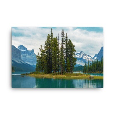 Spirit Island - Jasper Alberta Canada (Canvas) The Rockies Canadian Rocky Mountains