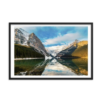 Lake Louise - Banff Alberta Canada (Framed poster) The Rockies Canadian Rocky Mountains