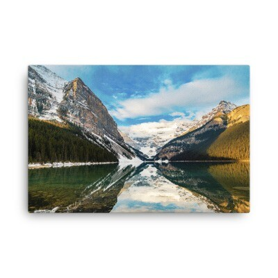 Lake Louise - Banff Alberta Canada (Canvas) The Rockies Canadian Rocky Mountains