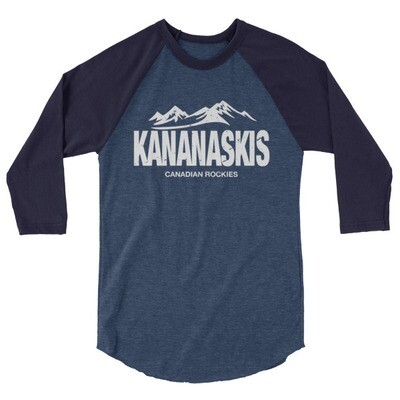 Kananaskis Country Alberta Canada - 3/4 sleeve raglan shirt (Multi Colors) The Rockies Canadian Rocky Mountains