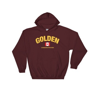 Golden British Columbia Canada - Hooded Sweatshirt (Multi Colors) The Rockies Canadian Rocky Mountains