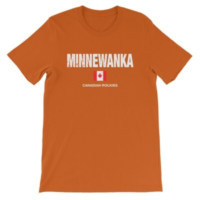 Minnewanka Banff Alberta Canada - T-Shirt (Multi Colors) The Rockies Canadian Rocky Mountains