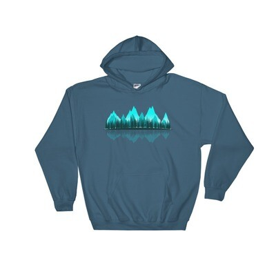 The Rockies Panoramic - Hooded Sweatshirt (Multi Colors) Canadian American Rocky Mountains