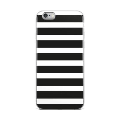 iPhone Case - Black & White Stripes