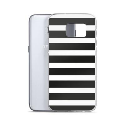 Samsung Case - Black & White Stripes