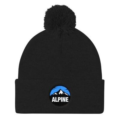 Alpine - Pom Pom Knit Cap (Multi Colors) The Rocky Mountains Canadian American Rockies