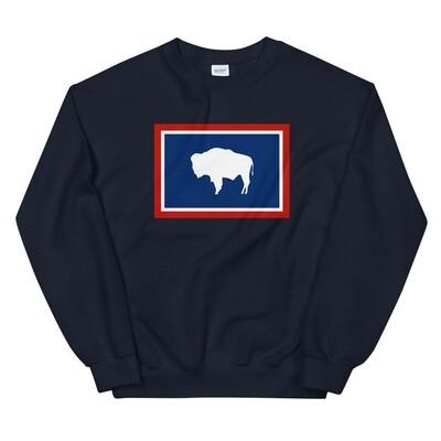 Wyoming Flag - Sweatshirt (Multi Colors)