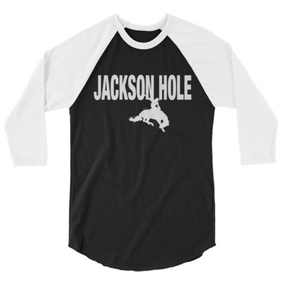 Jackson Hole Wyoming USA - 3/4 sleeve raglan shirt (Multi Colors) The Rockies American Rocky Mountains